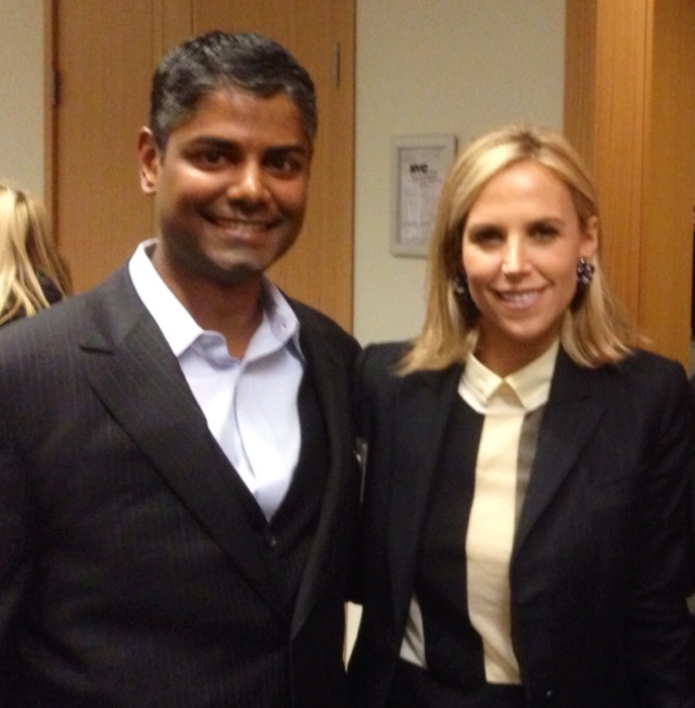 Van West Media's CEO Shad Mohammed with Tory Burch