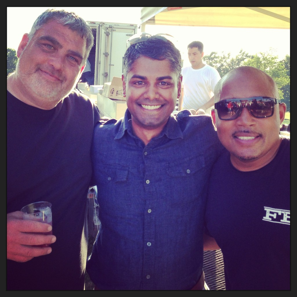 Van West Media's CEO Shad Mohammed with Butch Resnick and Daymond John